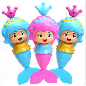 Baby-Kids-Mermaid-Clockwork-Dabbling-Bath-Toy-Classic-Swimming-Water-Wind-Up-C