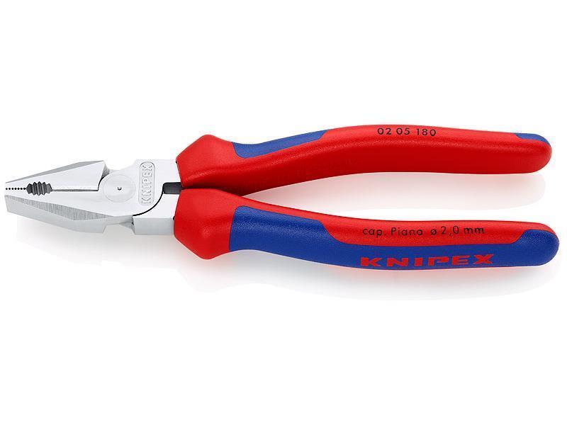 Knipex Kraft-Kombizange verchromt mit Mehrkomponenten-Hüllen 180 mm