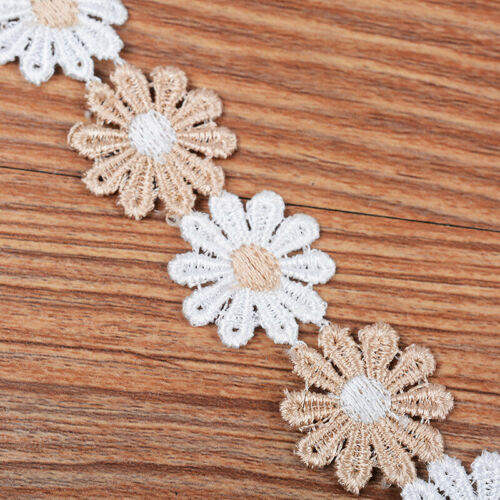 Lace Trimmings Sewing Crafts Daisy Pink White Trim Ribbon DIY Flowers
