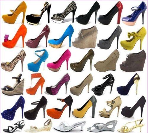 New 24 50 Wholesale Lot Women Fashion High Heels Platform Pumps Sandals Shoes