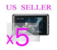 5x Sony Cybershot Dsc-tx10 Clear Lcd Screen Protector Cover Guard Film