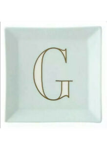 kate Spade by Lenox catch all trinket jewelry tray porcelain Letter G