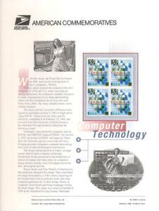 #503B 32c Computer Technology  #3106 USPS Commemorative Stamp Panel
