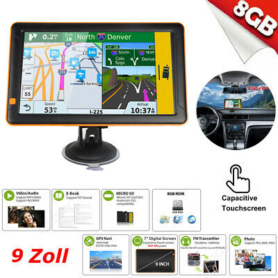 9 zoll navigationsger t f r lkw pkw bus navi navigation gps poi blitzer mp3 fm ebay. Black Bedroom Furniture Sets. Home Design Ideas