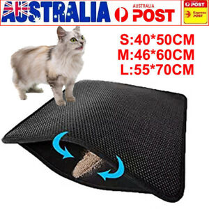 7ed0cbdc4 Image is loading Double-Layer-Cat-Litter-Mat-Trapper-Waterproof-Foldable-