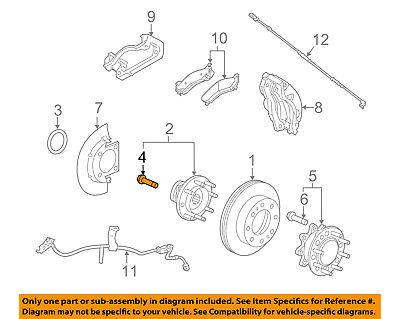 Pontiac GM OEM 04-06 GTO Brake-Front-Wheel Stud 92214183