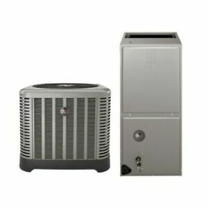 2 Ton 14 Seer Rheem Ruud Air Conditioning System With 7 5kw Heater Ebay