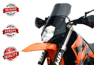 Image Is Loading TOURING SCREEN WINDSHIELD SCHEIBE KTM 640 LC4 SUPERMOTO