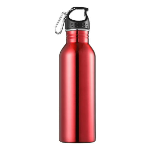 Stainless Steel Water Bottle Single Wall Sports Gym Metal Flask for Cycling