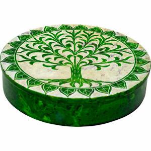 Soapstone-Flat-Round-Box-Tree-of-Life-Green