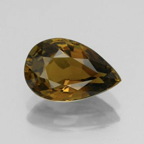 Natural Masterpiece Collection: Pear Genuine 16x12 or 18x13mm Smoky Quartz