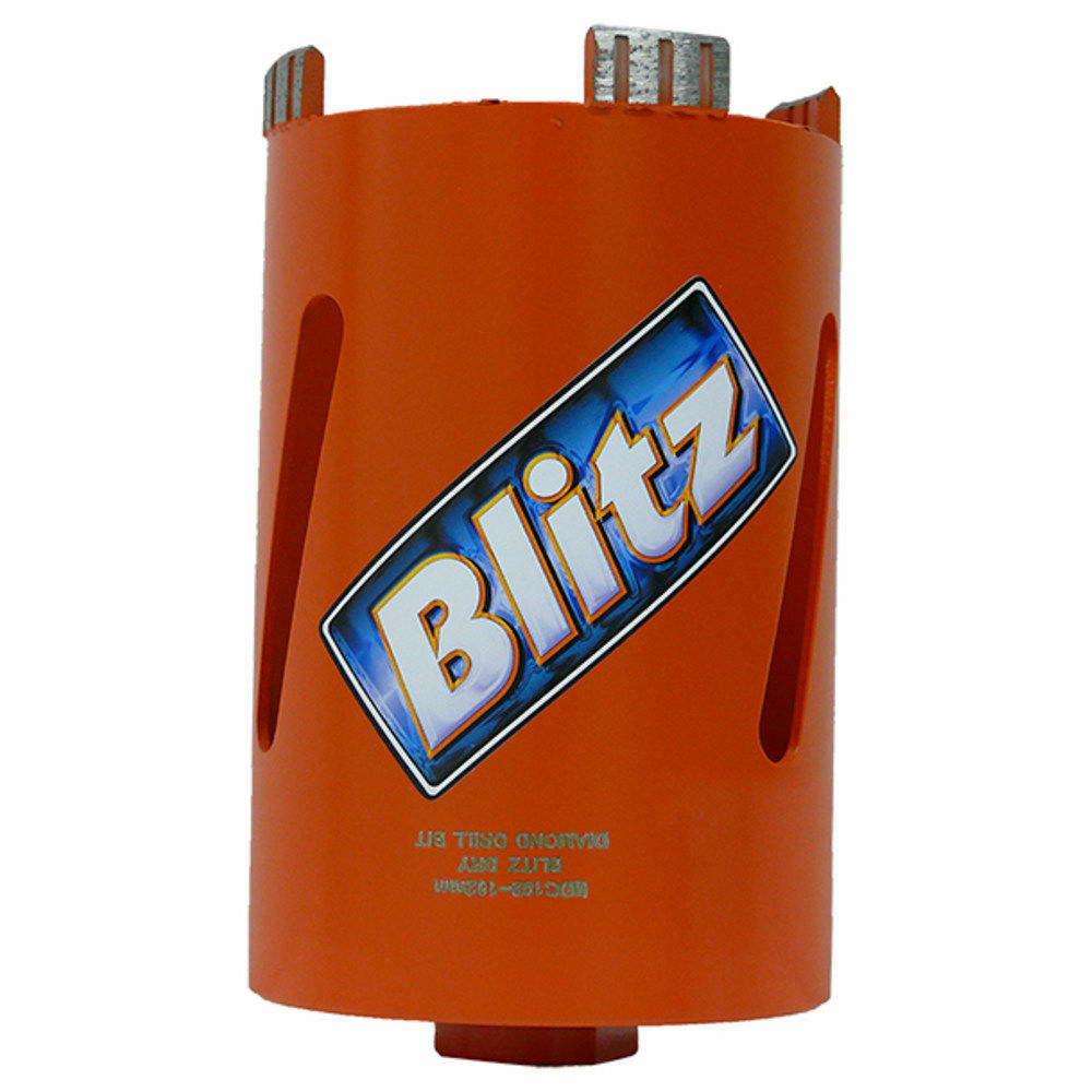 Blitz DRY DIAMOND CORE CUTTER 1 2  BSP Thread- 67x160mm, 82x160mm Or 102x160mm