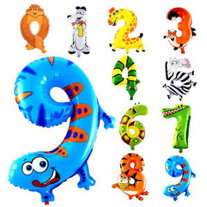 Self-Inflating-16-034-INCH-Foil-Number-BALLOONS-Happy-Birthday-Large-Animal-Ballons