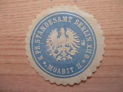 K Moabit Ii Niedriger Preis 12806 Siegelmarke Standesamt Berlin Xii B Pr