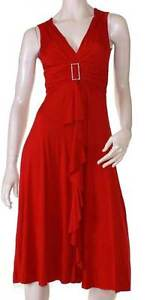 Red-Dress-Cocktail-Races-Formal-Plus-Size-10-12-14-16-18-20-EVERSUN-Sleeveless