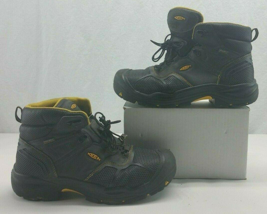 Keen 1017828 para hombre Logandale 6  WP EH Puntera De Acero botas De Trabajo Negro EE