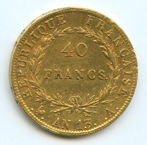Napoleon-Ier-1804-1814-40-Francs-or-tete-nue-AN-13-A-Paris