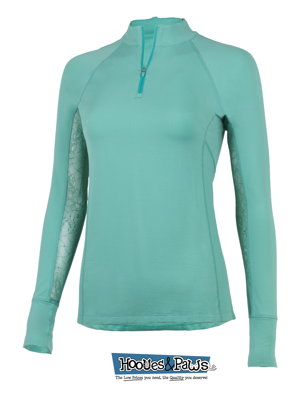 Noble Equestrian Ashley Performance Long Sleeve Riding UV Protection Shirt Mint