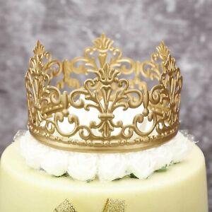 Detalles De Vintage Gold Crown Cake Topper Reina Princesa Decoración Pasteles Foto Fiesta Baby Ver Título Original
