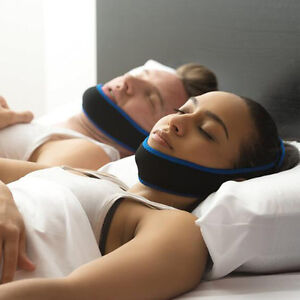 Anti Snore Adjustable Stop Snoring Belt Sleep Apnea Chin Straps Jaw Support Aid 8011533486157