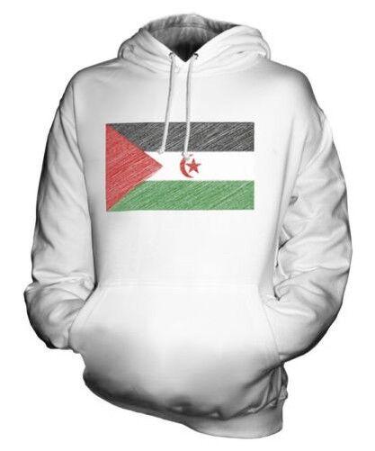 West Sahara Scribble Flag Unisex Kapuzenpulli Top Geschenk Fußball