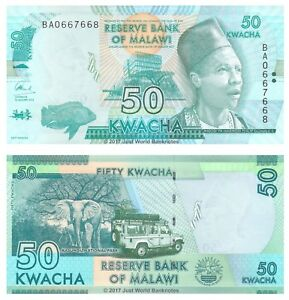 Malawi-50-Kwacha-2016-P-Nouveaux-billets-UNC