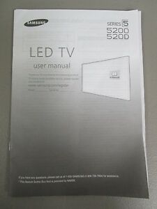 samsung led tv series 5 5200 520d user manual new ebay rh ebay com samsung user manual led tv samsung user manual dvd muisc com