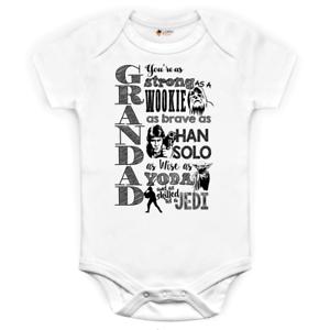 Star wars Jedi Themed Father Grandad Grandfather Father/'s Day Birthday baby