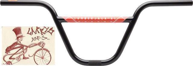 ODYSSEY LUMBERJACK XL 2-PIECE 9    RISE negro BMX BICYCLE HANDLEBAR 5918aa