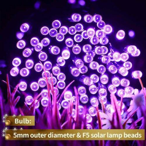 Solar Power 100 LED String Lights Garden Path Yard Decor Lamp Outdoor Waterproof