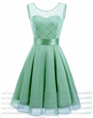Formal Lace Short Prom Wedding Evening Cocktail Party PromGown Bridesmaid Dress