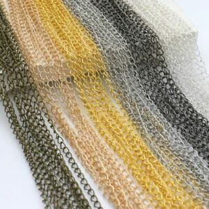 5M-Silver-Gold-Plated-Cable-Open-Link-Iron-Metal-Chain-DIY-Findings-Making-Gift