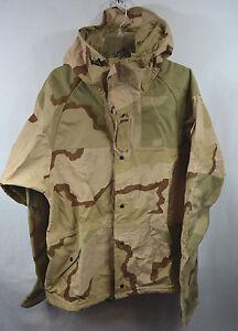 Desert-Camouflage-TACS-OPS-II-Parka-Jacket-Wet-Weather-Large-L-L-New