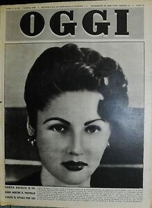 OGGI-N-15-7-APR-1949-FAWZIA-ASCOLTA-IL-CORANO-MENTRE-IL-FRATELLO-FARUK