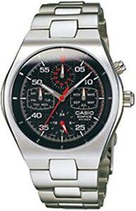 Casio Edifice Retrograde Chronograph Black Dial Men's Stainless Steel Watch