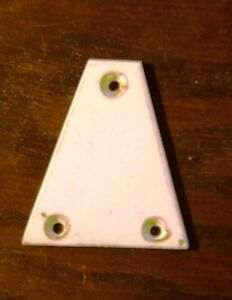 Guitar-Truss-Rod-Cover-White-Plastic-NEW-FREE-POSTAGE