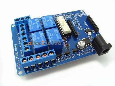 70W DC9V 4 Mechanical Relay Module Shield For Arduino UNO R3 XBEE 315 433MHz RF