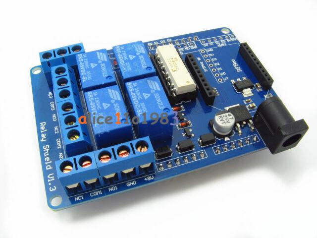 70W DC9V 4 Mechanical Relay Module Shield For Arduino UNO R3 XBEE 315 433MHz RF