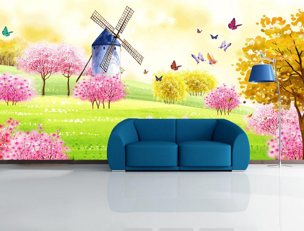 3D Windmühlen Malerei 69 Tapete Tapeten Mauer Foto Familie Tapete Wandgemälde DE