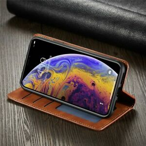 Magnetic Leather Luxury Wallet Flip Cards Holder Stand Cover Case For iPhone 12