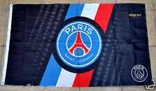 Paris Saint-Germain Flag Banner 3x5 ft PSG Black France Football Soccer