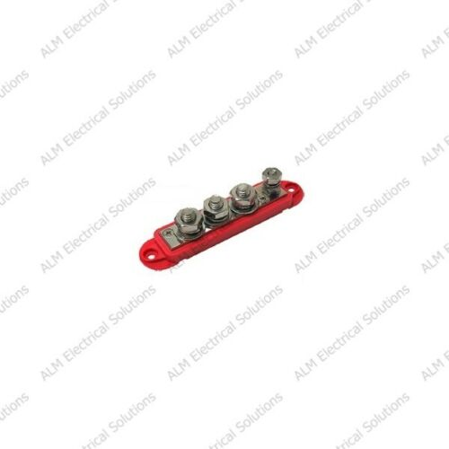 Stainless Steel Posts 210 Amp Red VTE 4 Point Busbars Washers /& Hex Nuts