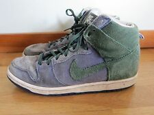 Nike SB Dunk High Pro Green Blue Suede High Top Sneaker Men 7.5 Women 9.5