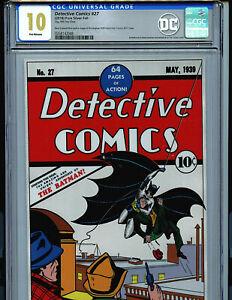 Detective-Comics-27-CGC-10-Gem-Mint-Silver-Foil-Batman-1st-Release-Amricons-DC