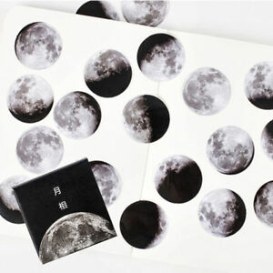 45pcs-Calendar-Planet-Moon-Stickers-Mini-Paper-Diary-Scrapbooking-Label-Sticker