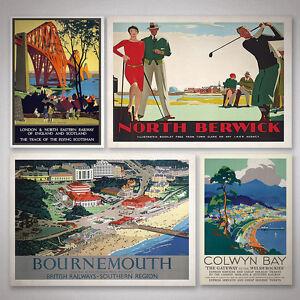 Kersey Suffolk A4 Vintage travel railway poster