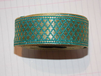 30mm brown gold  jacquard embroidered ribbon applique motif trimming decor