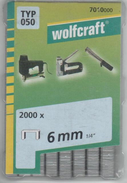 Wolfcraft 7028100 6mm Type 053 Extra Hard Steel Broad Back Staples