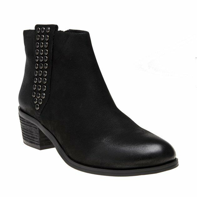 New WOMENS STEVE MADDEN BLACK DEEM SUEDE BOOTS ANKLE