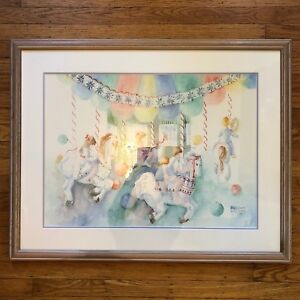 Annetta-Nichols-Limited-Edition-Print-78-1925-Kids-On-Carousel-33-034-x-26-034-SIGNED